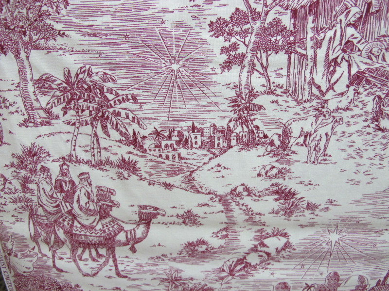 Christmas toile natavity 1661 A